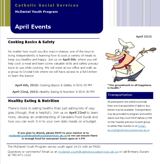 MYP April Events