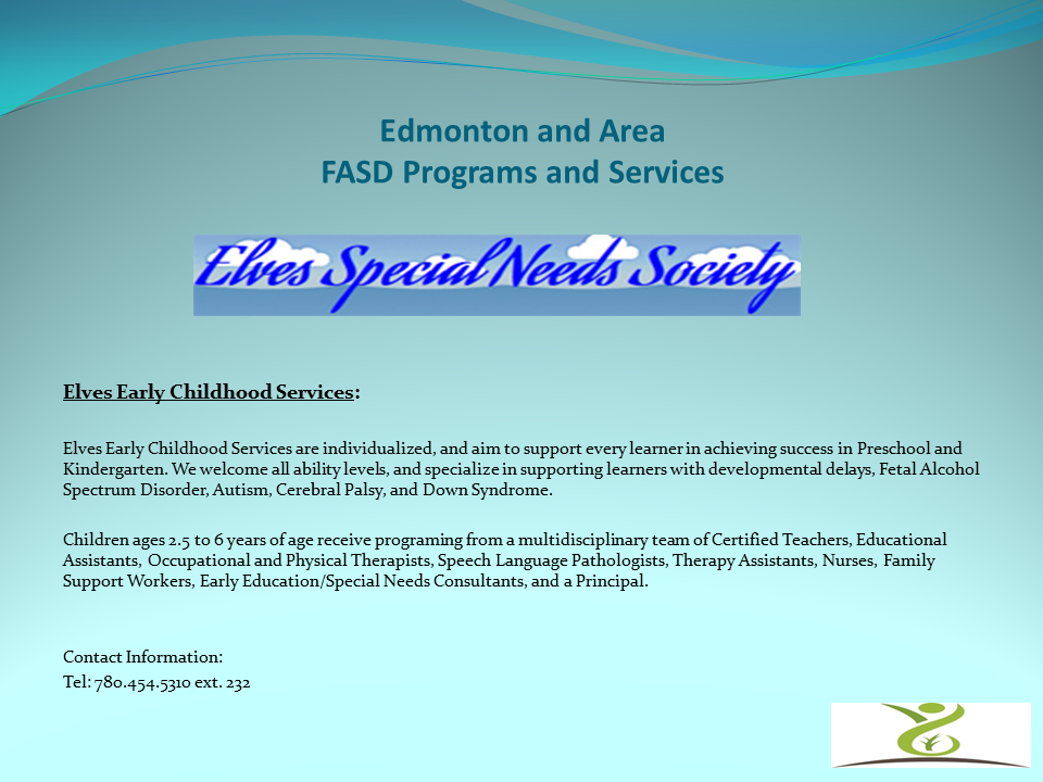 Edmonton And Area Fasd Programs And Services Elves Special Needs