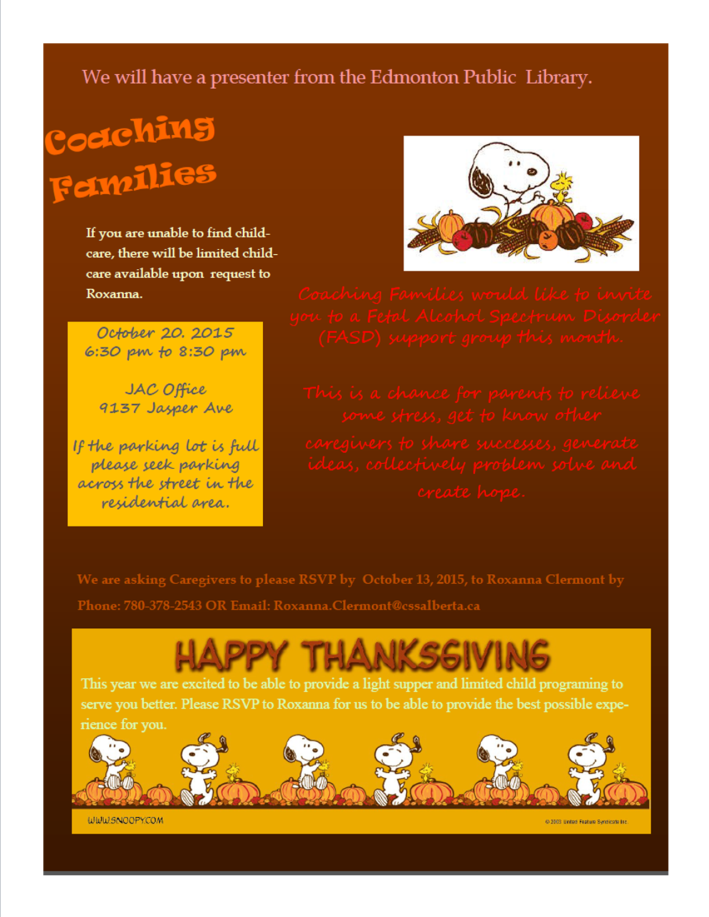 Coaching Families Support Group