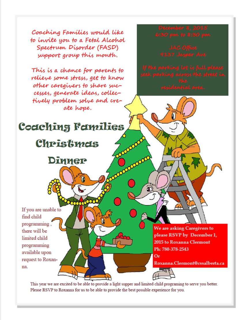 Coaching Families - December 2015 Flyer