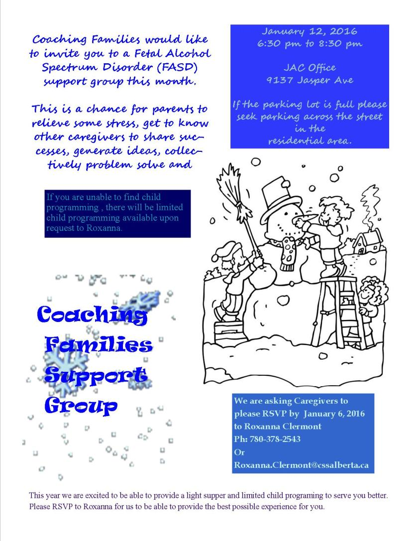 Coaching Families - January 2016 Flyer