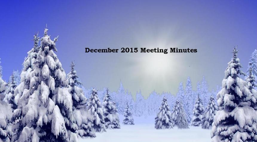December 2015 Meeting Minutes