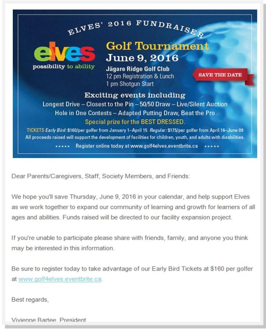 Elves Golf Tournament 2016