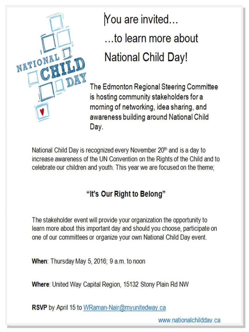 2016 National Child Day