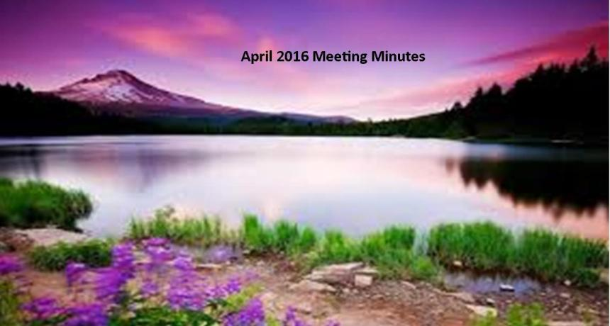 April 2016 Meeting Minutes