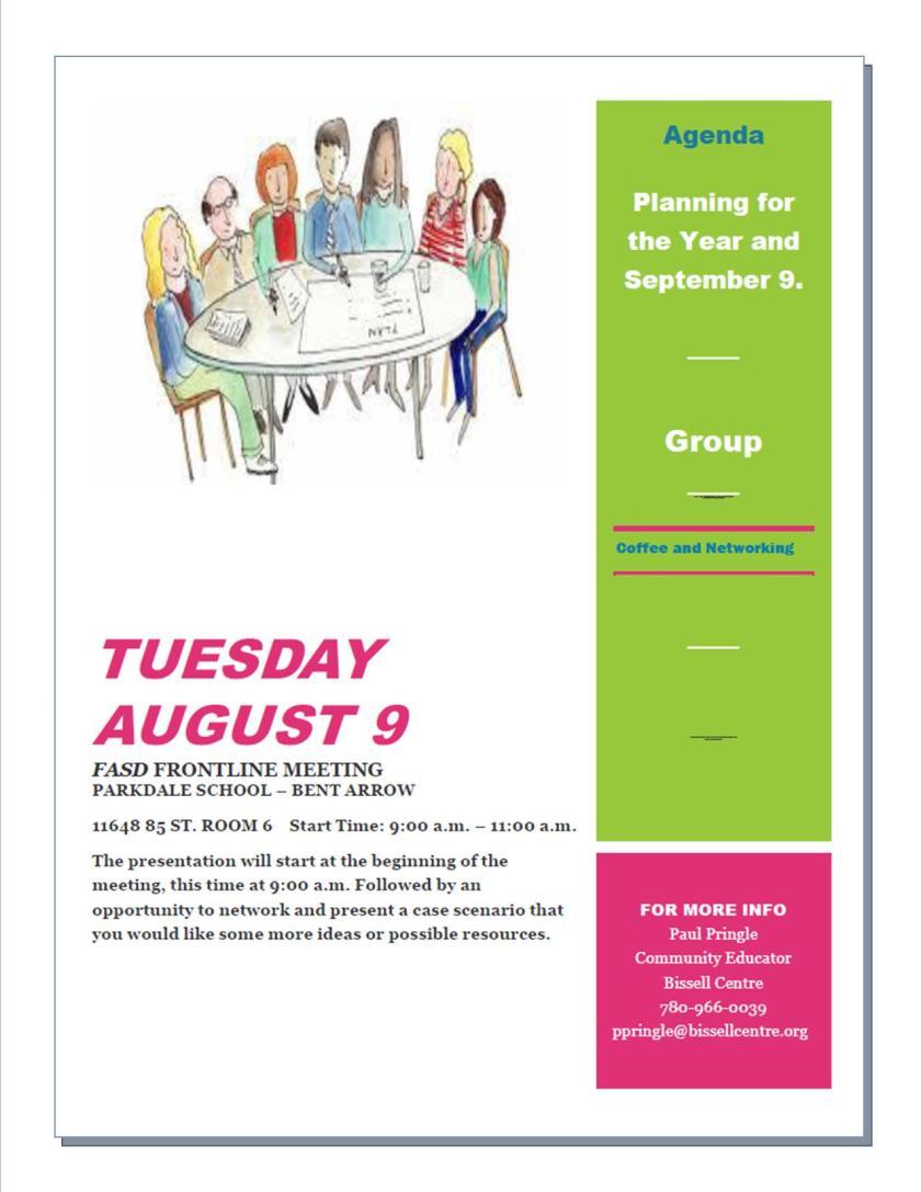 August 2016  Agenda