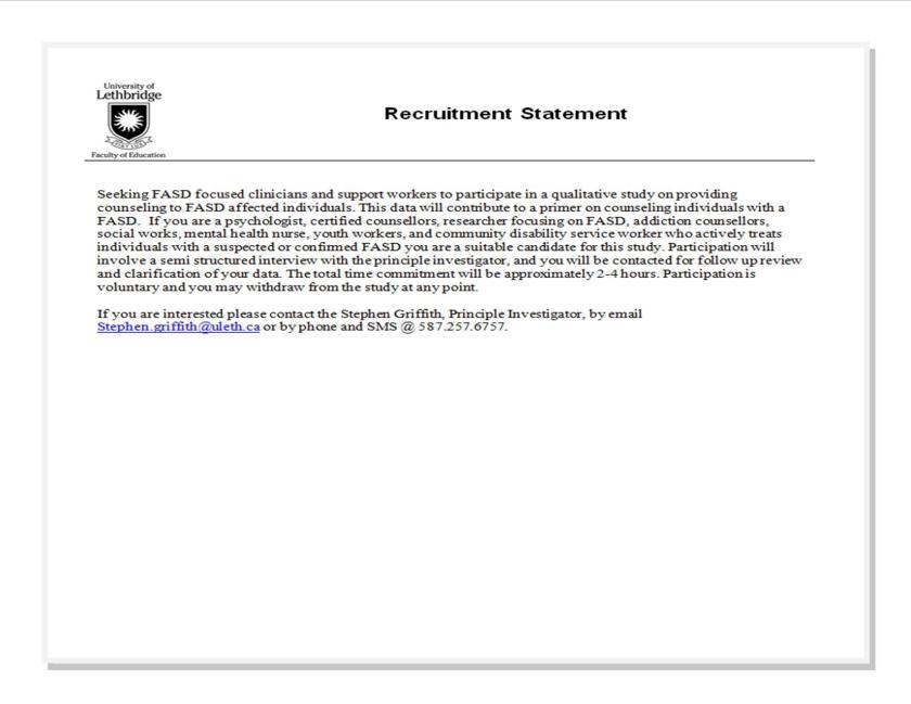 griffith-recruitment-statement